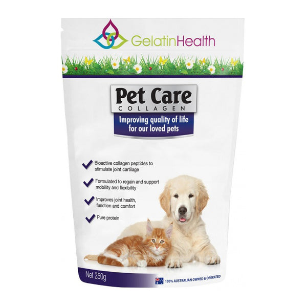 Gelatin Health Pet Care Collagen 250g JOINT HEALTH FOR FURRY FRIENDS - The Healthy Household