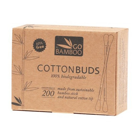 Go Bamboo Eco Cotton Buds (box of 200) - The Healthy Household
