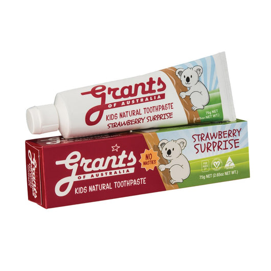 Grants Kids Natural Toothpaste Strawberry Surprise 75g  SLS FREE VEGAN - The Healthy Household