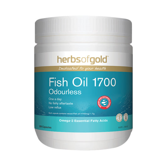 Fish Oil 1700 - High Strength, Low Reflux Omega-3 EPA & DHA (200 Capsules)