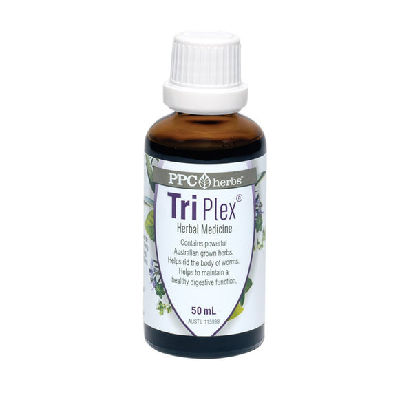 PPC Herbs Tri-Plex 50mL - Natural Herbal Remedy for Intestinal Worms - The Healthy Household