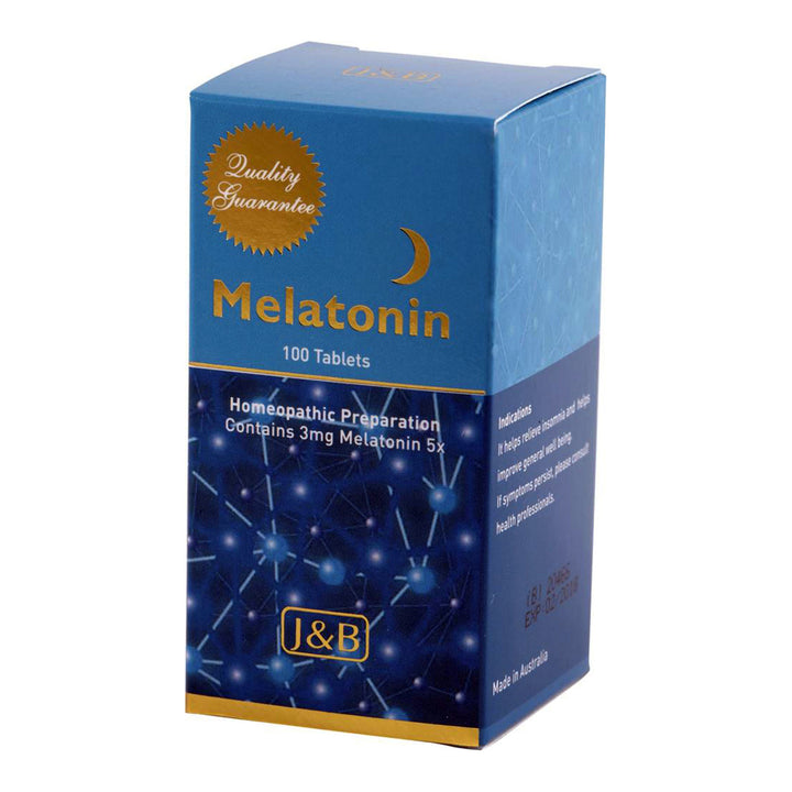 Johnson & Barana Homeopathic Melatonin (3mg 5X) 100 tablets. BETTER SLEEP, BETTER HEALTH - The Healthy Household