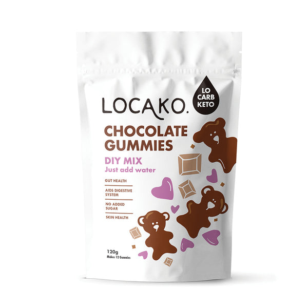 Locako Chocolate Gummies DIY Mix 120g GUT/SKIN HEALTH, COLLAGEN PROTEIN