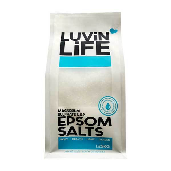 Luvin Life Epsom Salts 1.25kg - Magnesium Sulphate US Pharmaceutical Grade - The Healthy Household