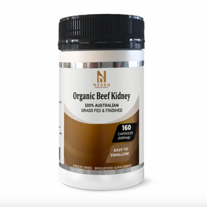 Organic Beef Kidney Capsules 500mg (160 Caps, 160 Day Supply) DAO HISTAMINE SUPPORT