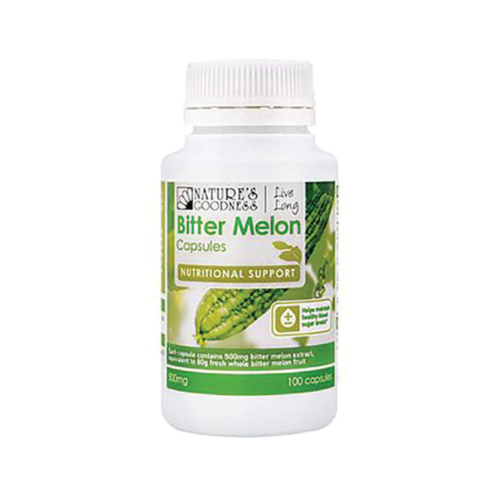 Nature's Goodness Bitter Melon 500mg 100 capsules