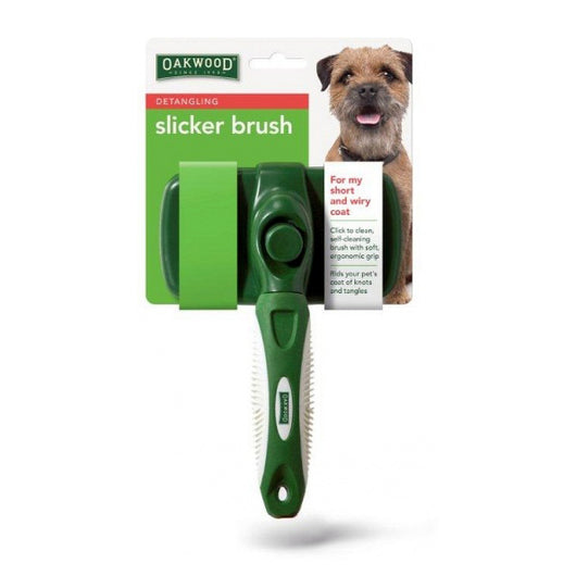 Oakwood Detangling Slicker Brush for Dogs and Cats - Short and Wiry Coats - The Healthy Household