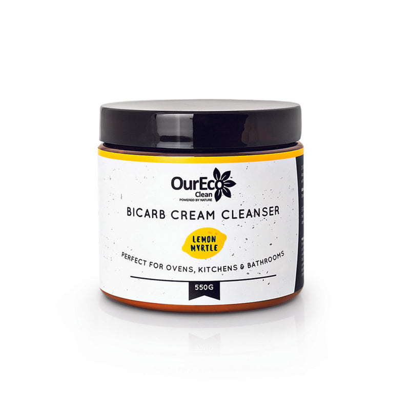 OurEco Clean BiCarb Cream Cleaning Paste Lemon Myrtle (550g) - The Healthy Household