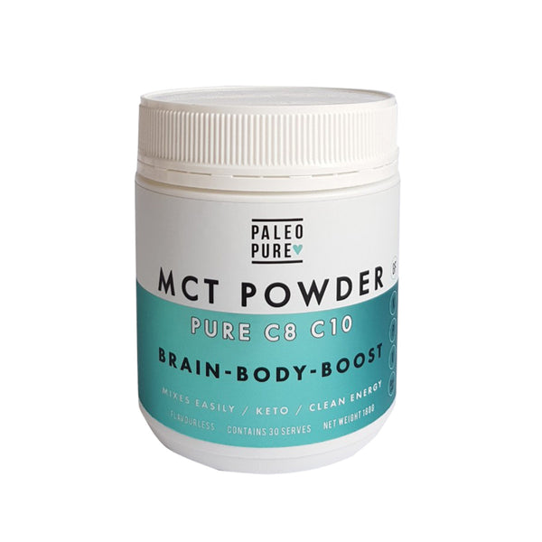 Paleo Pure MCT Powder Pure C8 C10 180g - Ketogenic Fuel & Fast Brain Energy! - The Healthy Household