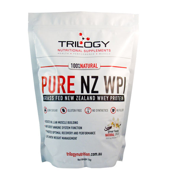 Pure NZ WPI Natural Protein Powder 1kg (Vanilla) - The Healthy Household