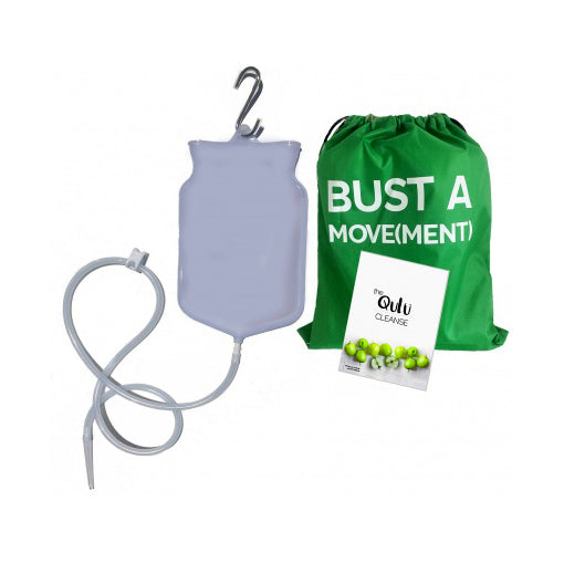QULU Silicone Enema Kit 2L - Safe, Natural, Immediate Relief for Constipation - The Healthy Household