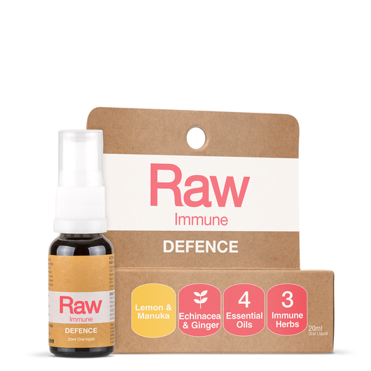 Raw Immune Defence Lemon Manuka Spray 20mL IMMUNE HEALTH THROAT SPRAY