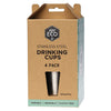 Ever Eco Stainless Steel Drinking Cups 4 x 500mL - The Healthy Household