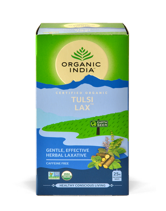 Organic India - Tulsi Lax Tea - Gentle Effective Herbal Laxative (25 Bags) - The Healthy Household