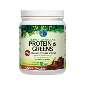 Protein & Greens Organic Chocolate 710g CLEAN VEGAN SUPERFOOD PROTEIN