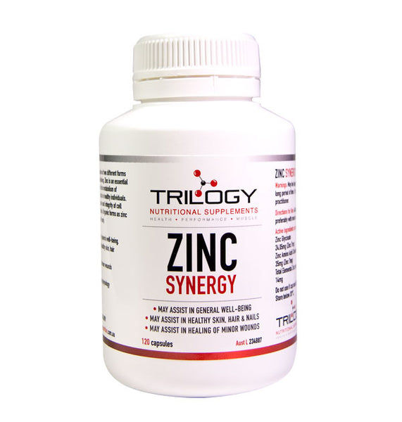 Trilogy Nutrition Zinc Synergy (120 capsules) *PRE-ORDER, BACK SOON*