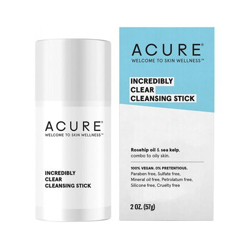 Acure Incredibly Clear Cleansing Stick 57mL (VEGAN, PHALATE-FREE) *LAST ONES*
