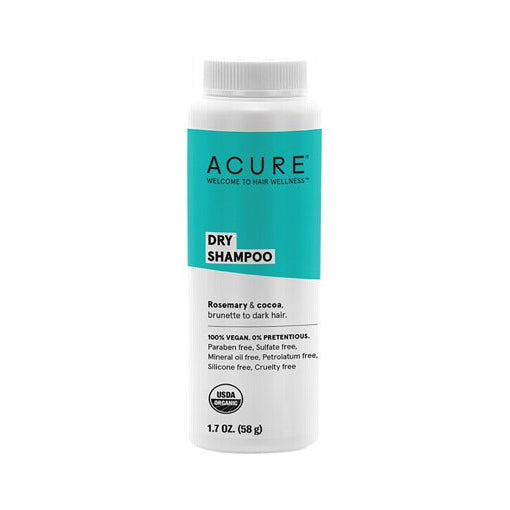 Acure Dry Shampoo - Brunette To Dark Hair Types 58g (VEGAN, ORGANIC, PHALATE-FREE)