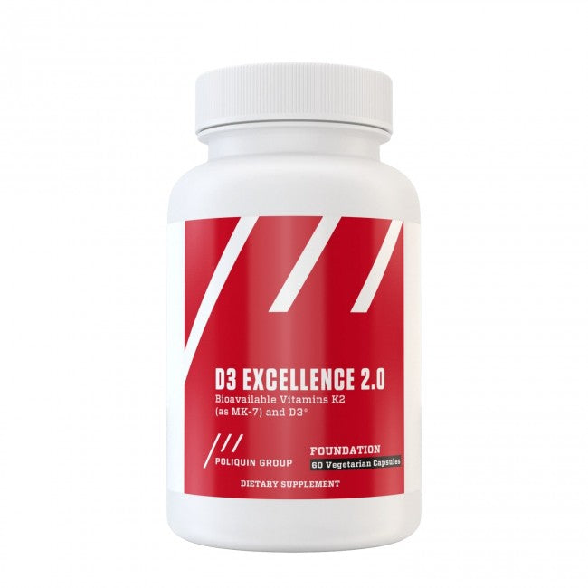 D3 Excellence 2.0 - 5,000 IU Vitamin D3 and Vitamin K2 (60 capsules) - The Healthy Household