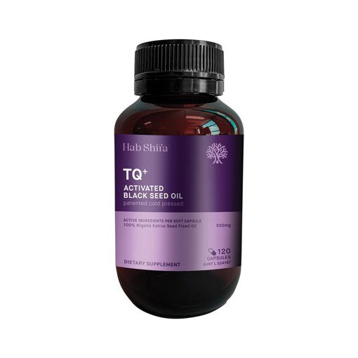 TQ+ Activated Black Seed Oil 120 Vegecapsules 100% Nigella Sativa Seed Fixed Oil 500mg