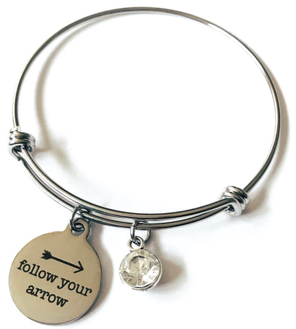 Follow Your Arrow Bangle Charm Bracelet