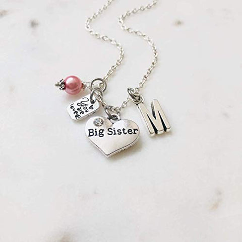 Big Sister Sterling Silver Initial Necklace