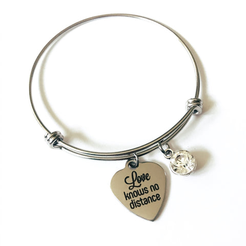 Long Distance Charm Bangle Bracelet