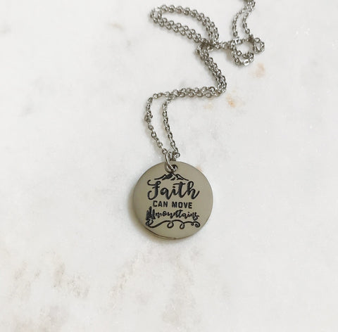 Faith Can Move Mountains Necklace