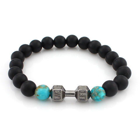 "Unisex ""Lift Live"" Barbbell Stretch Bracelet"