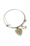 The Love Between a Mother and Her Children is Forever Rhinestone Bangle