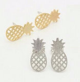 18k Gold Plated or Silver Plater Pineapple Stud Earrings