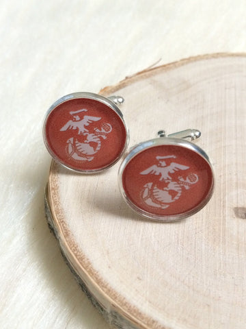 Marines Eagle Globe & Anchor Cufflinks