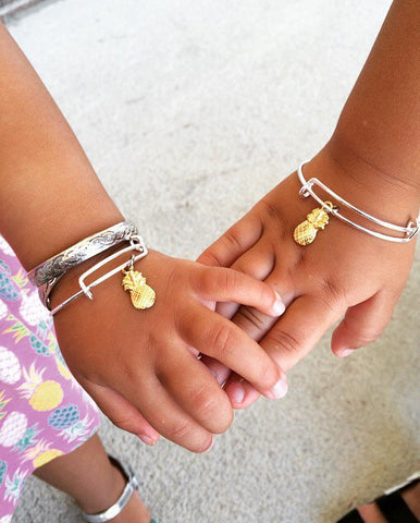 Pineapple Kids or Adult Bangles