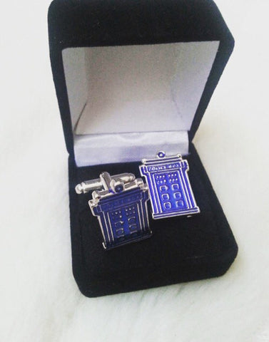 Dr Who Cufflinks - Tardis Police Box