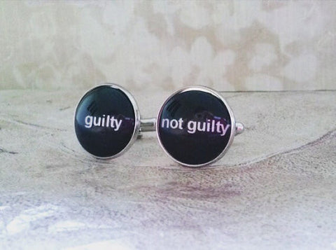 Guilty, Not Guilty Cufflinks Set