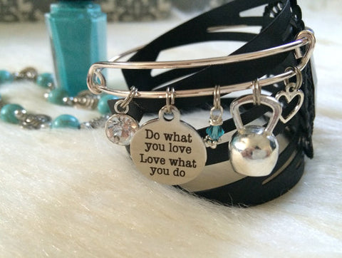 Silver Plated Fitness Charm Bracelet