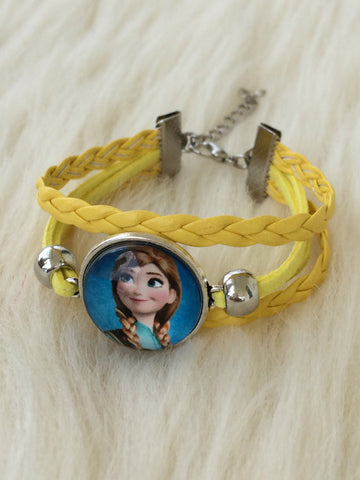 Yellow Kid's Ana Infinity Bracelet - Gifts for Her - Braided Leather Rope