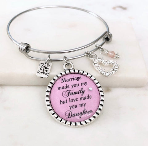 Step Daughter, Adoption Bangle Bracelet