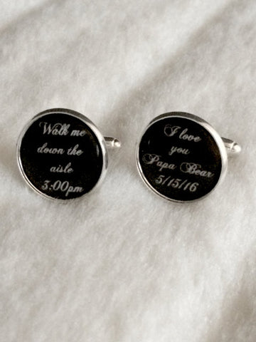 Custom Walk Me Down the Isle Cufflinks