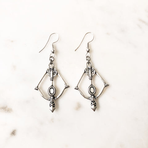 Daryl Dixon Inspired Crossbow Earrings