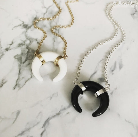 Half Moon Crescent Necklace