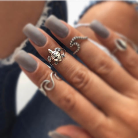 Mini Turtle Midi Ring - .925 Sterling Silver