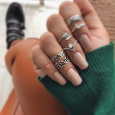 Flower Child Midi Ring - .925 Sterling Silver