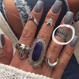 Native Headpiece Adjustable Midi Ring - .925 Sterling Silver
