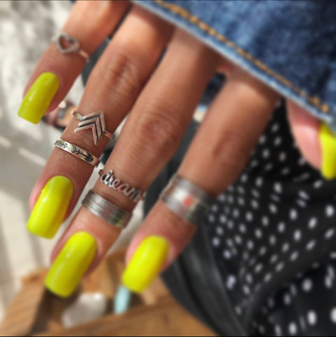 Arrow Band Midi Ring - .925 Sterling Silver