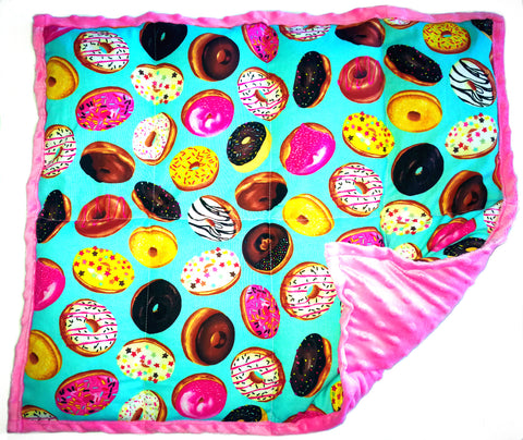 "Weighted Lap Pad Weighted Lap Blanket - Calming Portable Sensory Support for Autism Anxiety Stress ADHD & Fidgets - (3 lbs & W 21"" x H 18"" - Doughnuts)"