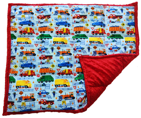 Weighted Lap Pad For Kids | Lap Blanket For Toddlers | 3 lbs Keep On Truckin