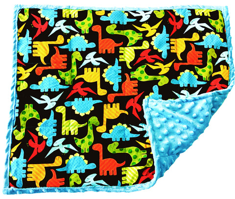 Weighted Lap Pad For Kids | Lap Blanket For Toddlers | 3 lbs Neon Dinosaurs