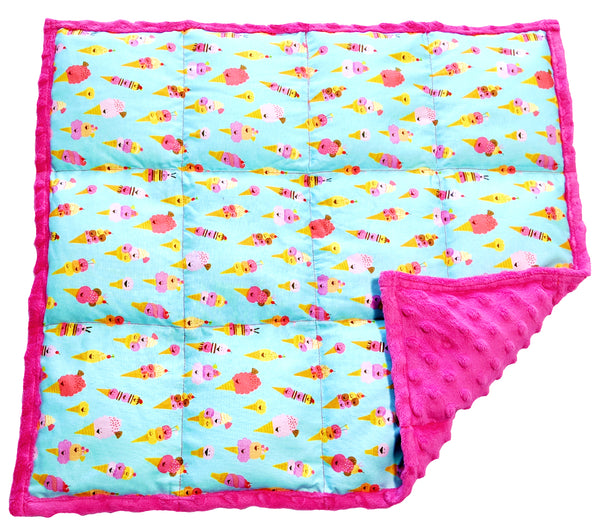 Weighted Lap Pad For Kids | Lap Blanket For Toddlers | 3 lbs Ice Cream