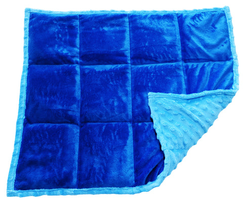 Weighted Lap Pad For Kids | Toddler Lap Blanket | 3 lbs True Blue